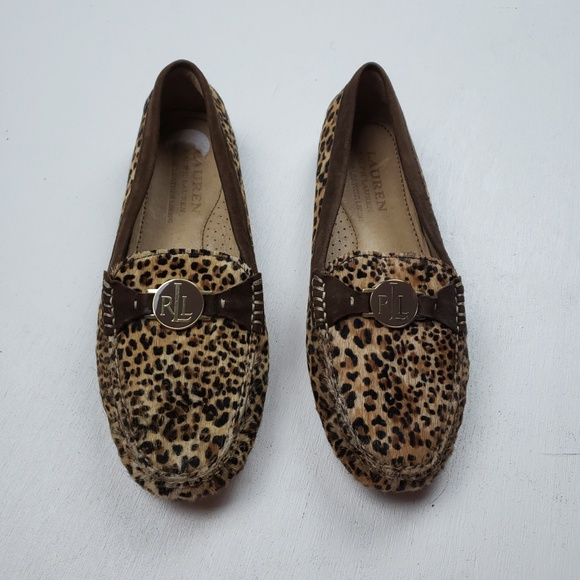 Leopard Leather Calf Hair Loafers